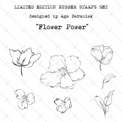 Gumibélyegző szett - ID55 - Flower Power