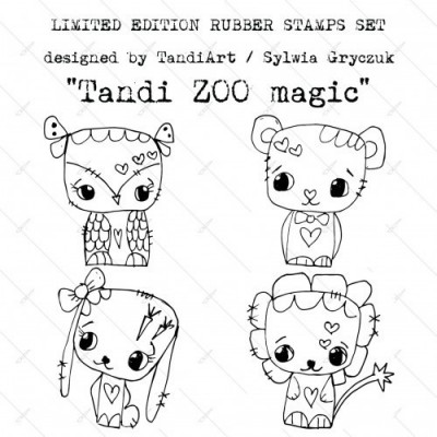 TandiArt gumibélyegző szett - ID41 MagicZoo