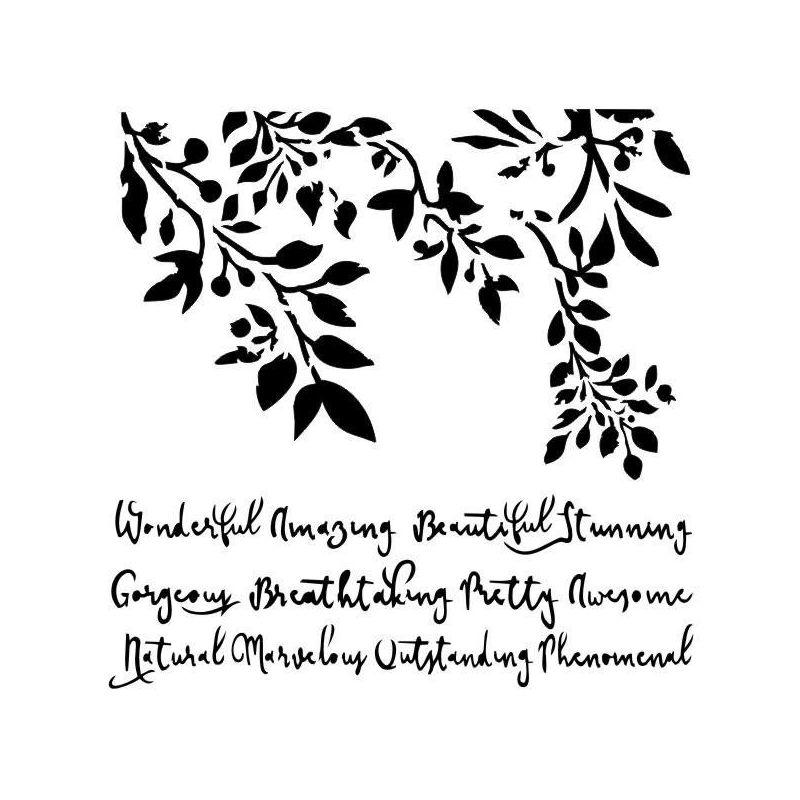 Wonderful Nature stencil - 13arts