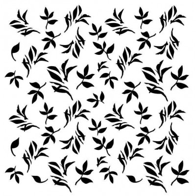 Tiny Leaves stencil