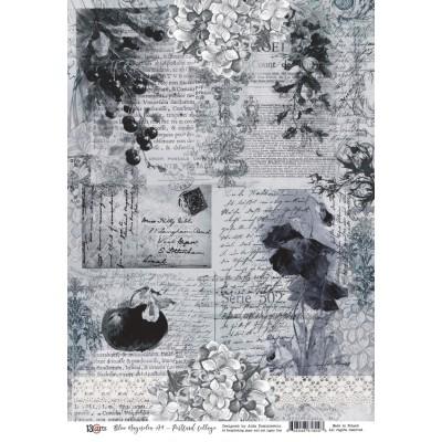 Blue Magnolia kivágóív A4 - képeslap