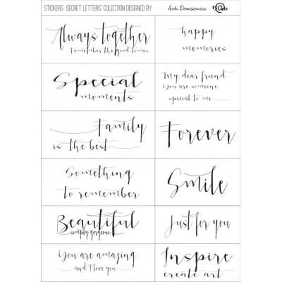 Secret Letters matrica