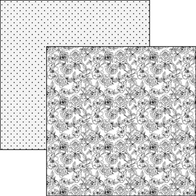 Evergreen Classic - Black & White 12x12