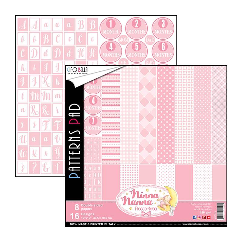 Ninna Nanna Girl pattern pad 12x12