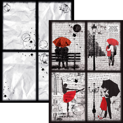 Loving in the Rain creative pad A4