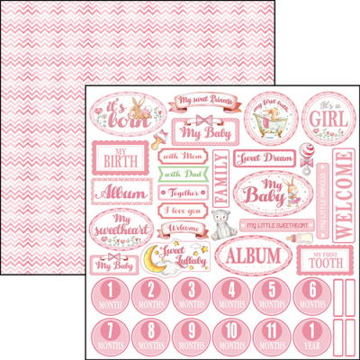 English Heart - Ninna Nanna Girl Collection 12x12