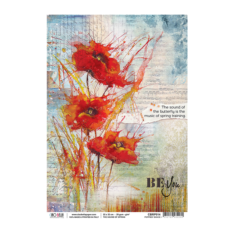 Poppies' Dance rizspapír A4