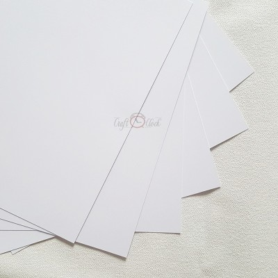 6 db-os fehér alapkarton készlet- 12x12