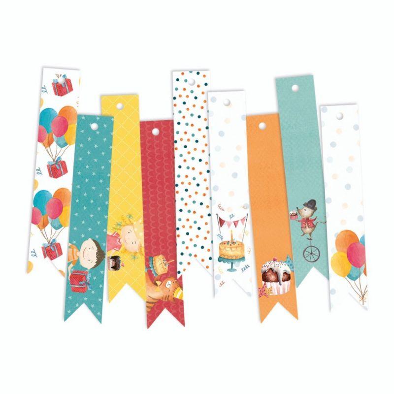 Happy Birthday - dekorációs címkék 03 - 9 db