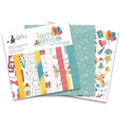"""Happy Birthday - 12""""-es mini kollekció (6 db 2 oldalas papír)"""