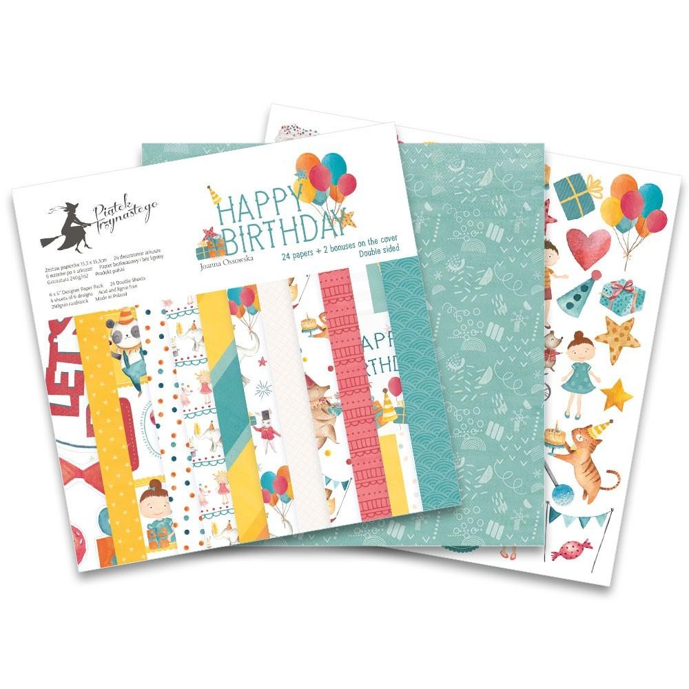 """Happy Birthday - 6""""-es kollekció (24 db 2 oldalas papír)"""