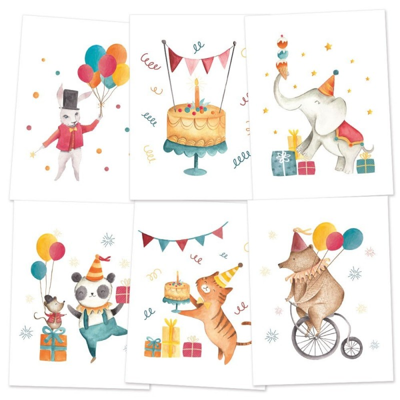 Happy Birthday - 15x20 cm-es mini poster (3 db)