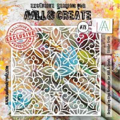 AALL and Create 6x6 stencil no.78