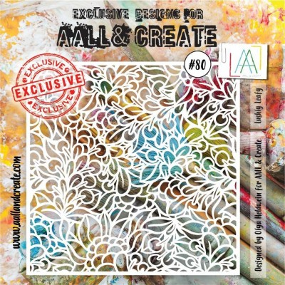AALL and Create 6x6 stencil no.80