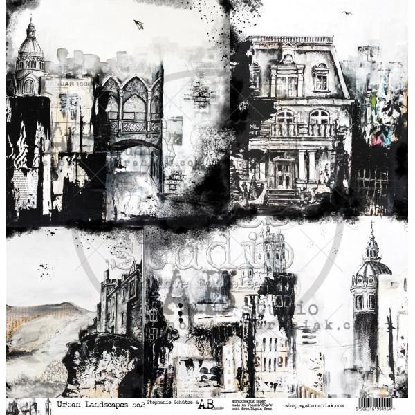 """Stephanie Schütze - Urban Landscapes no.2. 12""""-es kivágóív"""