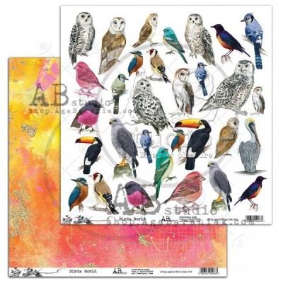 """Birds World 12""""-es kivágóív"""