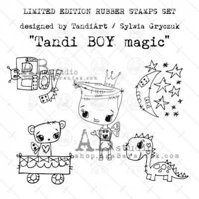 TandiArt gumibélyegző szett ID36 - Magic Boy