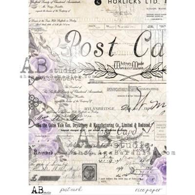 Post card rizspapír