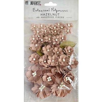 49 and Market papírvirág készlet - Botanical Potpourri – Hazelnut