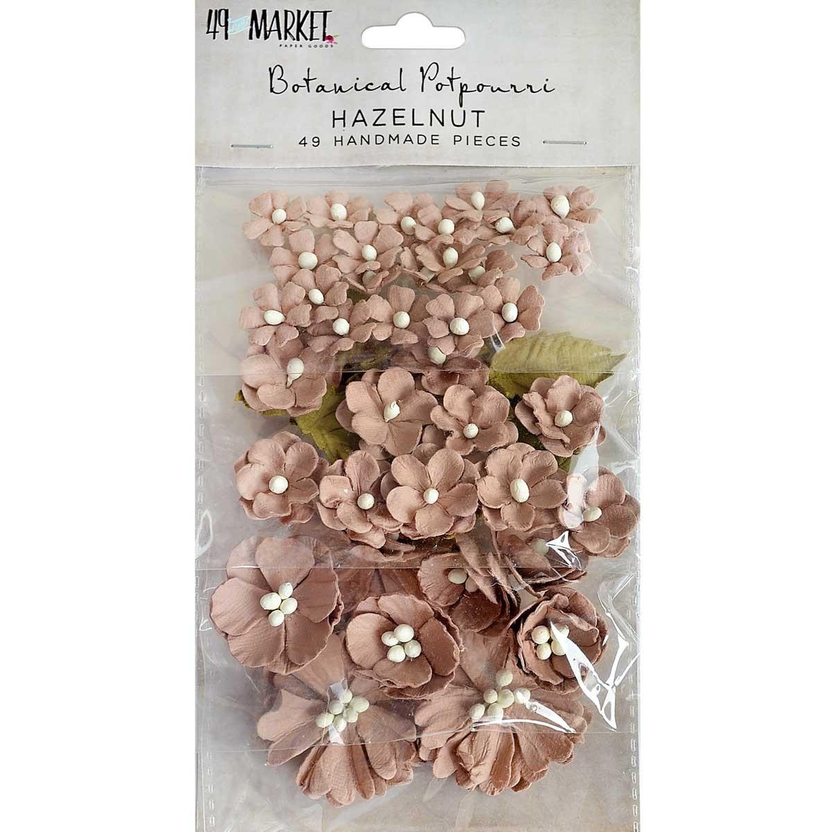 Papírvirág készlet - Botanical Potpourri – Hazelnut