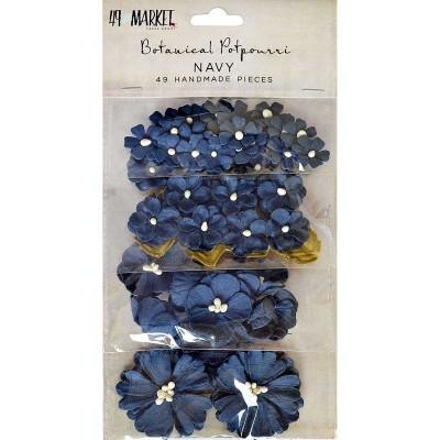 9 and Market papírvirág készlet - Botanical Potpourri – Navy