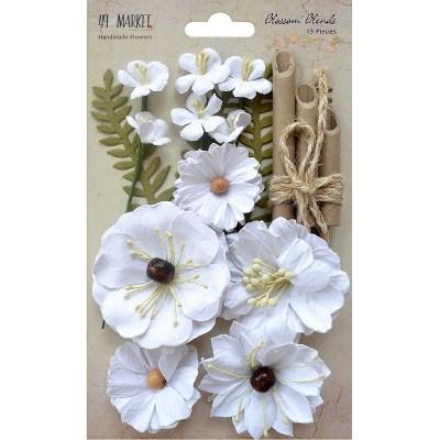 49 and Market papírvirág készlet - Blossom Blends – Cotton