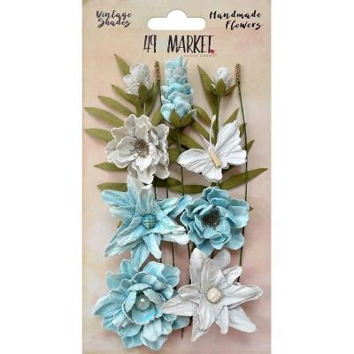 Papírvirág készlet - Vintage Shades Cluster – Blue