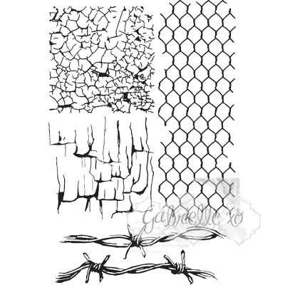 Gabi's Crackle Texture Bélyegző szett