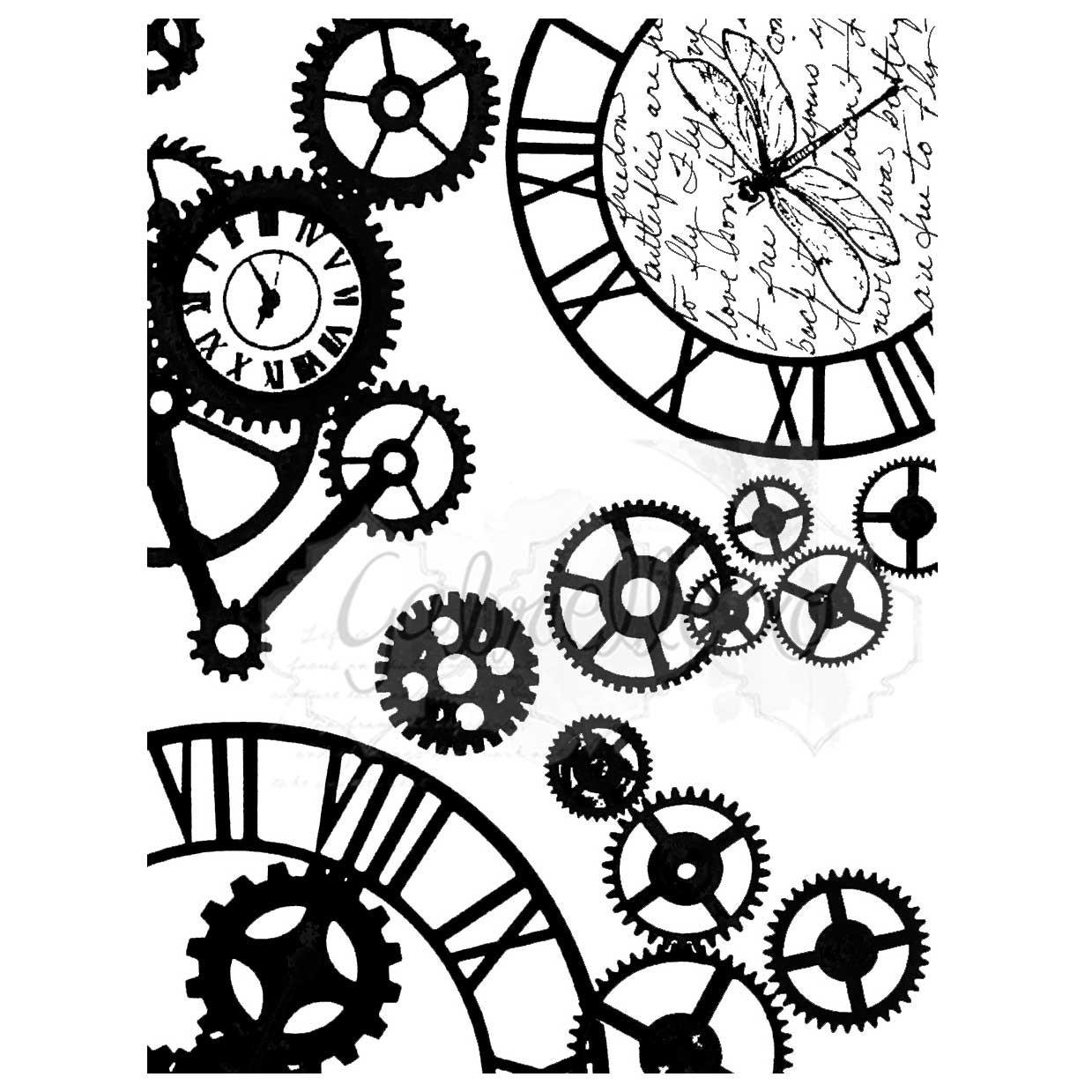 Steampunk Stylin bélyegző (3×4)