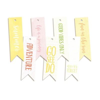 Sunshine - dekorációs címkék 02 - 7 db