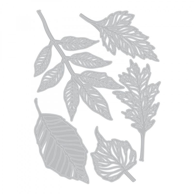 Sizzix Thinlits Vágókés Szett - Skeleton Leaves