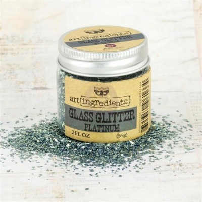 Art Ingredients - Glass Glitter: Platinum 56g