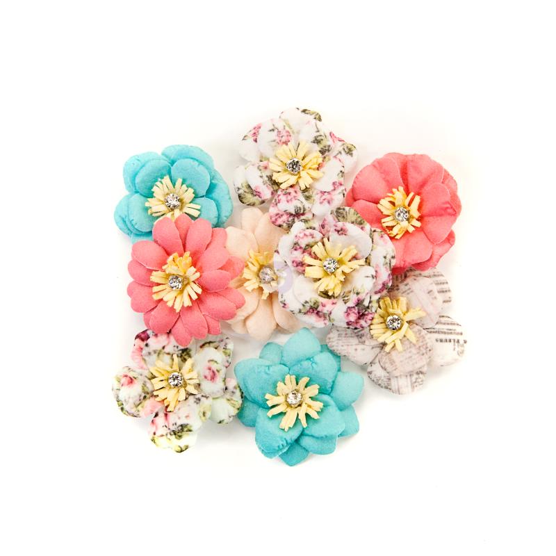 Flirty Fleur - Misty Rose virágok (9 db)