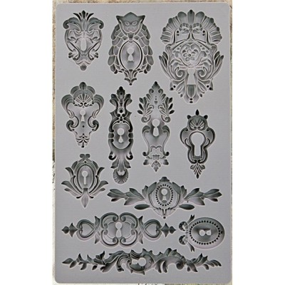 Szilikon öntőforma - Vintage Art Decor Mould - Keyholes