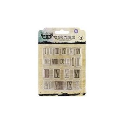 Finnabair - Vintage Mechanicals - Mini Roman Numbers (20 db)