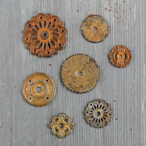 Finnabair - Vintage Mechanicals - Rustic Washers (7 db)