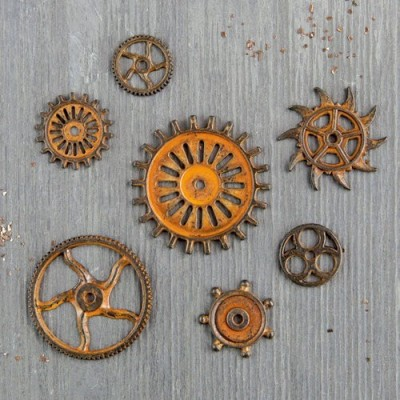 Finnabair - Vintage Mechanicals - Rusty Gears (7 db)