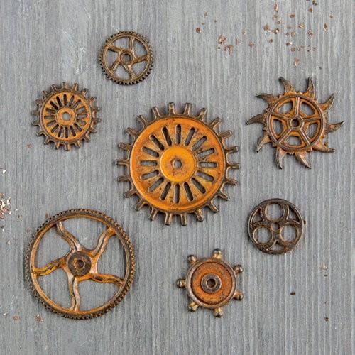 Finnabair - Vintage Mechanicals - Rusty Gears (7 db)