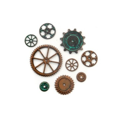 Finnabair - Vintage Mechanicals - Machine parts (9 db)