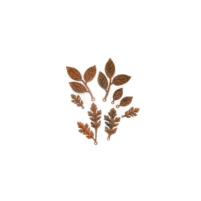 Finnabair - Vintage Mechanicals - Woodland Leaves (8 db)