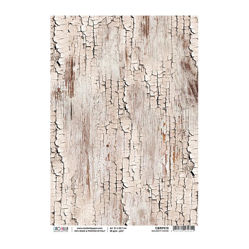 Dolomiti wood rizspapír A4