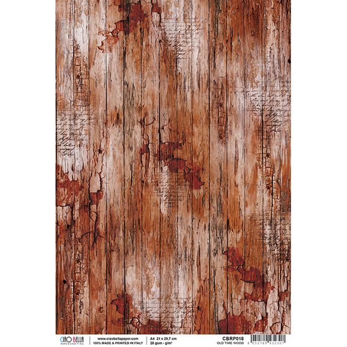 Old time wood rizspapír A4