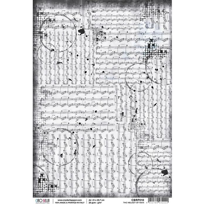 The melody of rain rizspapír A4