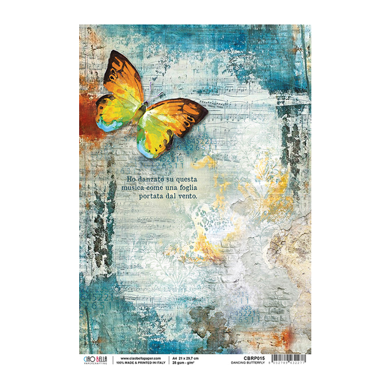 Dancing Butterfly rizspapír A4