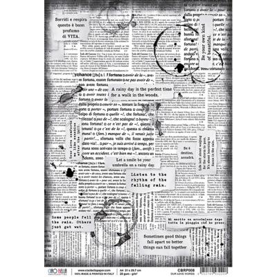 Our love words rizspapír A4