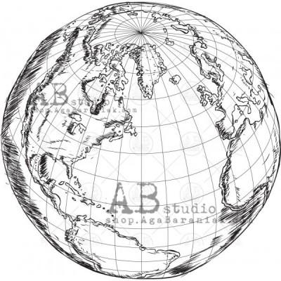 Gumibélyegző - ID-446 - kis Föld