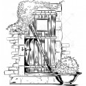 Gumibélyegző - ID-454 - ajtó