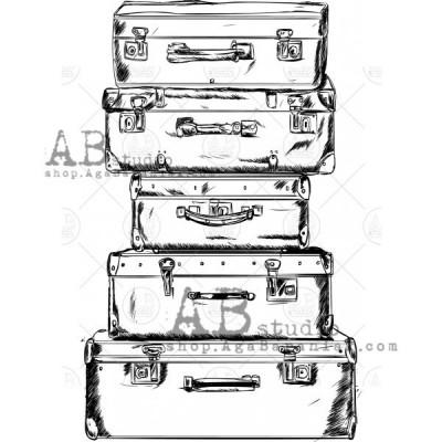 Gumibélyegző - ID-461 - bőröndök