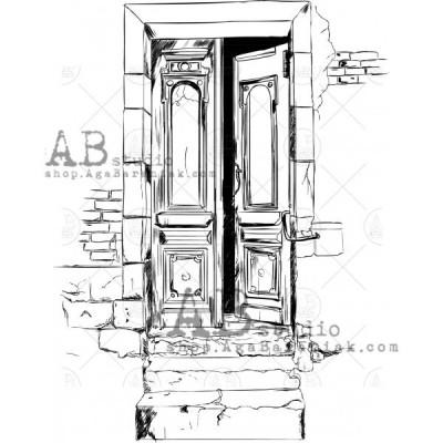 Gumibélyegző - ID-476 - ajtó