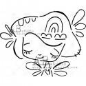 TandiArt stencil - ID-179 - kislány